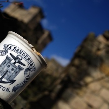 J A SANDERS & CO PRESERVED FRUIT  STOCKTON POT - Advertising