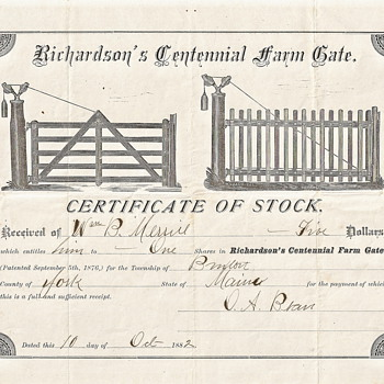RICHARDSON'S CENTENNIAL FARM GATE - Paper