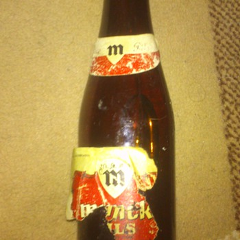 unopened 27 year old Belgian beer bottle - Bottles