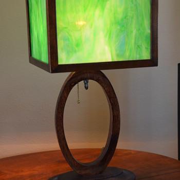 Slag Glass Lamp-- '50s-'60s? - Lamps
