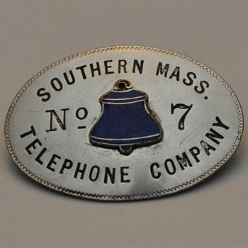 Southern Massachusetts Telephone Company employee badge - Telephones