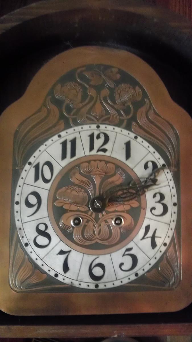 Wall Clock Art Nouveau : Art nouveau german wall clock collectors weekly