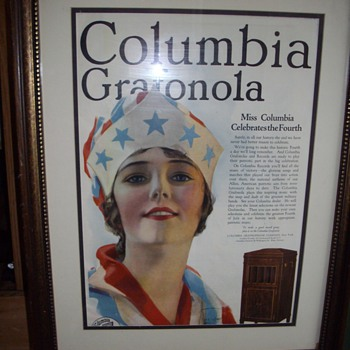 July 1919 Columbia Grafonola magazine advertisement.