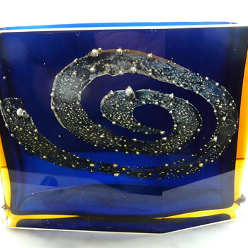 PAVEL HLAVA 'GALAXY' VASE FOR EXBOR  c.1964