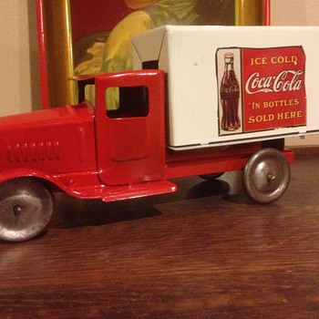 1930's Metalcraft delivery custom Coca Cola truck.