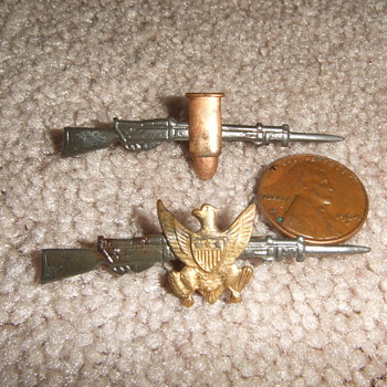 Early Military Sweetheart pins - Military and Wartime
