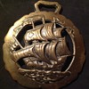 Horse brass of a Galleon
