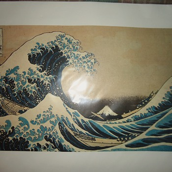 Katushika Hokusai 36 views of Mt. Fuji  Two prints from Tokyo Museum
