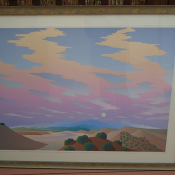 Gorgeous Sunset Serigraph - Unknown artist