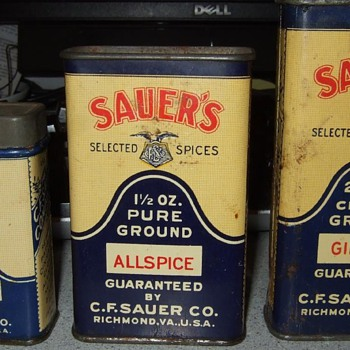 Sauer's Selected Spices Tins (for you caleb20) - Advertising