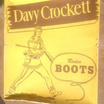 Davy Crockett Rodeo Boot Box - Advertising