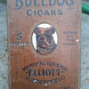 early bulldog cigar box