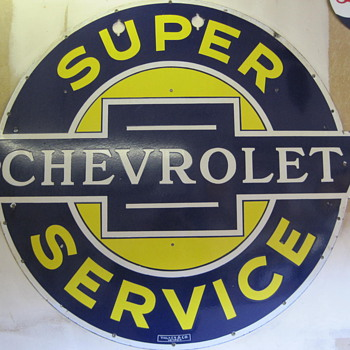 1 of 2 neon Chevrolet Super Service signs - Signs