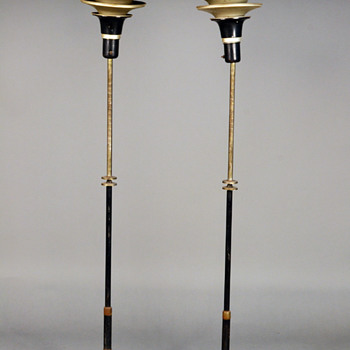 Pair of Art Deco Standing Floor Lamps, American