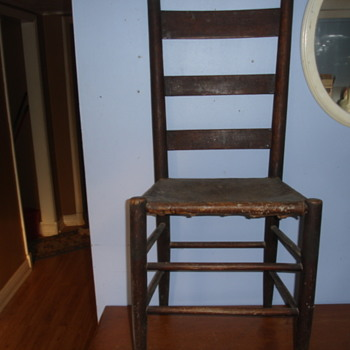 ANTIQUE CHAIR  Unknown origin, age and style.