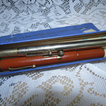 Vintage Hercules Tear Gas Fountain Pen - Military and Wartime