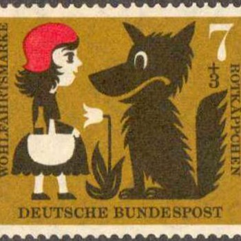 "1960 - W. Germany ""Red Riding Hood"" Postage Stamps Series - Stamps"