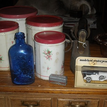 Vintage Kitchen Canister Set Empeco by the National Can Company of New York