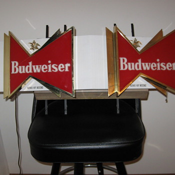 Double Budweiser BowTie Sign - Signs