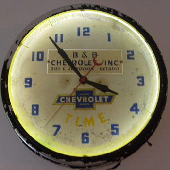chevrolet dealer clock 1947 - Clocks