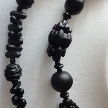 Two Victorian Mourning necklaces
