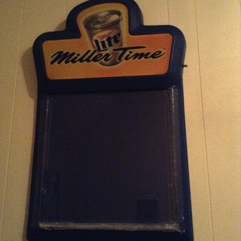 1999 miller lite (miller time) bar chalkboard  - Signs