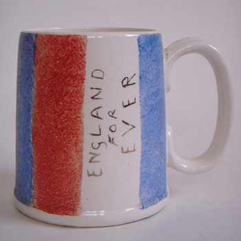 Weatherby Hanley Falcon Ware~ENGLAND FOR EVER mug~Vtg - Kitchen