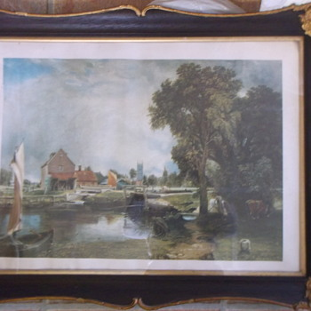 A Scenic Print - Lovely Country Scene - not sure who by??? - Visual Art