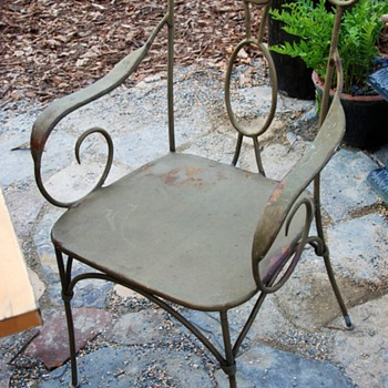 i picked up several of these chairs at a yard sale - Furniture