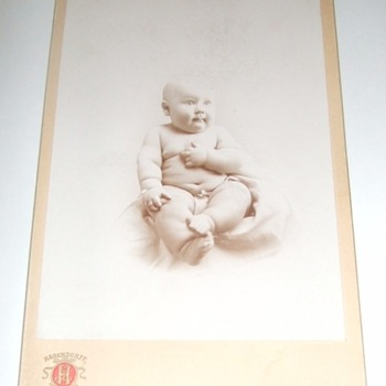 Cabinet card of chubby baby