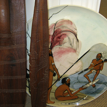 VINTAGE AUSTRALIAN SPEAR & SHIELD