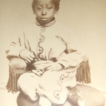 African American child CDV - Photographs
