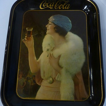"1925 Coca- Cola ""Foxy Girl"" Tray - Coca-Cola"