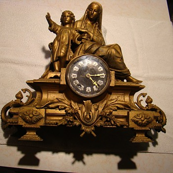 Madonna & Child Mantle Clock - Clocks