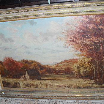 Frank Magleby's Landscape Painting (Oil on Board)