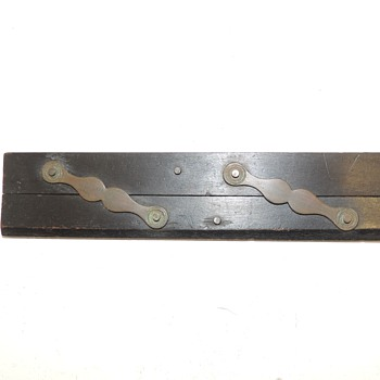 "Early 16"" Parallel Ruler - Forged Brass & Ebony"