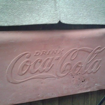 Unknown Coca cola Sign vintage.. info???