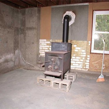 wood burner - Kitchen