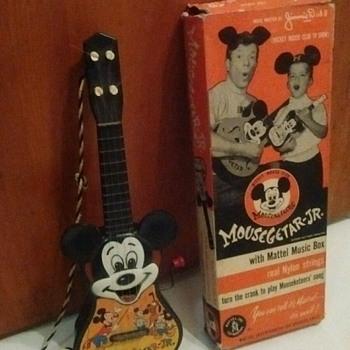 1950's Mattel Mickey MouseGetar Jr. - Toys