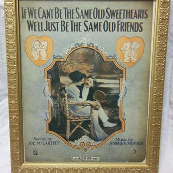 If We Can't Be The Same Old Sweethearts by Jimmie Monaco - Framed music book - Music