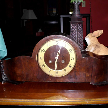 Schlenker & Kienzle Long Wooden Art Deco Clock with Counter Weighted Pendulum (waagependel) - Art Deco