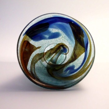 Spontana Bowl and Vase by Bengt Orup for Johansfors - Art Glass
