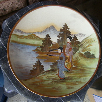 JAPANESE SATSUMA PLATE MEIJI PERIOD ?? SIGNED NEED HELP. - China and Dinnerware