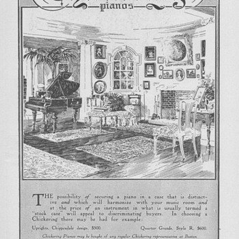 1909 - Chickering Piano Advertisement - Advertising