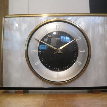 Metamec Faux Mother-of-Pearl Clock