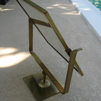 Brass plated table mirror - Furniture