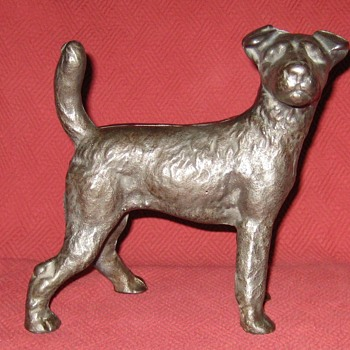 1920's National Foundry #159 Wire Haired Fox Terrier Doorstop - Tools and Hardware