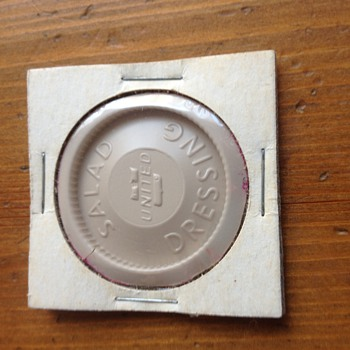Vintage United Airlines Salad Dressing Lid - Advertising