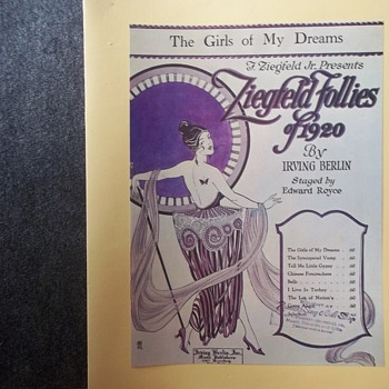1920 Sheet Music Art,  WOMAN WITH  ART DECO DRESS, 3 SAME TITLES, 3 WRITERS .. ALL DIFFERENT SONGS! - Music