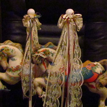 Fabric - Stuffed Carousel Horses